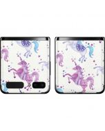 Purple Unicorns Galaxy Z Flip Skin