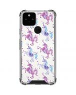 Purple Unicorns Google Pixel 5 Clear Case