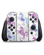 Purple Unicorns Nintendo Switch Joy Con Controller Skin
