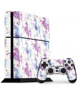 Purple Unicorns PS4 Console and Controller Bundle Skin
