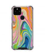 Rainbow Marble Google Pixel 5 Clear Case