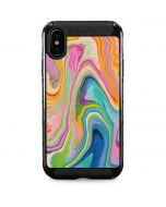Rainbow Marble iPhone XS Max Cargo Case