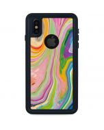 Rainbow Marble iPhone XS Waterproof Case