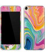 Rainbow Marble Apple iPod Skin