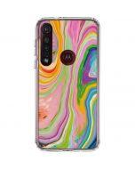 Rainbow Marble Moto G8 Plus Clear Case