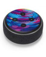Rainbow Wave Brush Stroke Amazon Echo Dot Skin