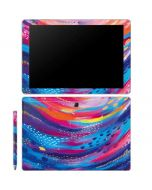 Rainbow Wave Brush Stroke Galaxy Book 10.6in Skin