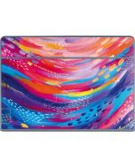 Rainbow Wave Brush Stroke Galaxy Book Keyboard Folio 12in Skin