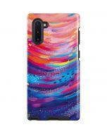 Rainbow Wave Brush Stroke Galaxy Note 10 Pro Case