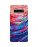 Rainbow Wave Brush Stroke Galaxy S10 Plus Lite Case