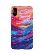 Rainbow Wave Brush Stroke iPhone X Pro Case