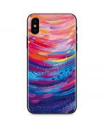 Rainbow Wave Brush Stroke iPhone X Skin