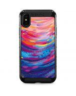 Rainbow Wave Brush Stroke iPhone XS Max Cargo Case