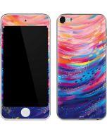 Rainbow Wave Brush Stroke Apple iPod Skin