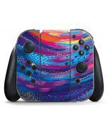Rainbow Wave Brush Stroke Nintendo Switch Joy Con Controller Skin