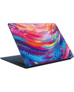 Rainbow Wave Brush Stroke Surface Laptop Skin