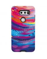 Rainbow Wave Brush Stroke V30 Pro Case