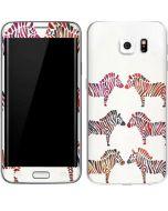 Rainbow Zebras Galaxy S6 Edge Skin