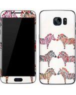 Rainbow Zebras Galaxy S7 Skin