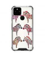 Rainbow Zebras Google Pixel 5 Clear Case