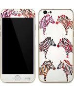 Rainbow Zebras iPhone 6/6s Skin