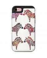 Rainbow Zebras iPhone 7 Wallet Case
