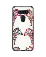 Rainbow Zebras LG K51/Q51 Clear Case