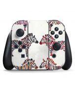 Rainbow Zebras Nintendo Switch Joy Con Controller Skin