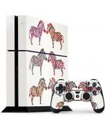 Rainbow Zebras PS4 Console and Controller Bundle Skin