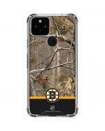 Realtree Camo Boston Bruins Google Pixel 5 Clear Case