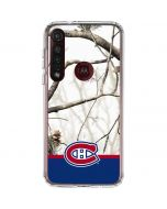 Realtree Camo Montreal Canadiens Moto G8 Plus Clear Case