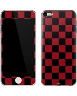 Red and Black Checkerboard Apple iPod Skin