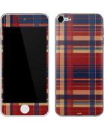 Red and Blue Plaid Apple iPod Skin