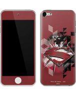 Red Superman Pattern Apple iPod Skin