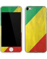 Republic of the Congo Flag Distressed Apple iPod Skin