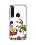 Road Runner Wile E Coyote Food Moto G8 Plus Clear Case