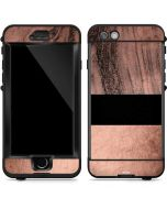 Rose Gold and Black Marble LifeProof Nuud iPhone Skin