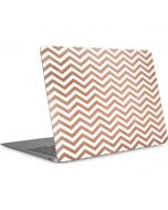 Rose Gold Chevron Apple MacBook Air Skin