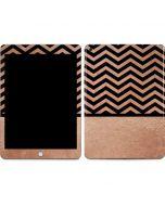 Rose Gold Chevron Split Apple iPad Skin