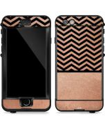 Rose Gold Chevron Split LifeProof Nuud iPhone Skin