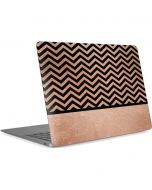 Rose Gold Chevron Split Apple MacBook Air Skin