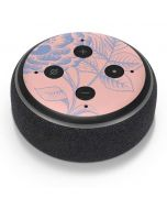Rose Quartz & Serenity Floral Amazon Echo Dot Skin