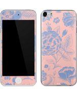 Rose Quartz & Serenity Floral Apple iPod Skin
