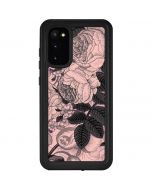 Rose Quartz Floral Galaxy S20 Waterproof Case
