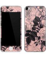 Rose Quartz Floral Apple iPod Skin