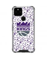 Sacramento Kings History Logo Blast Google Pixel 5 Clear Case