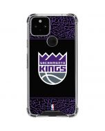 Sacramento Kings Purple Elephant Print Google Pixel 5 Clear Case
