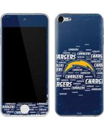Los Angeles Chargers Blue Blast Apple iPod Skin