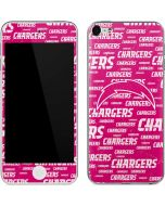 Los Angeles Chargers Pink Blast Apple iPod Skin