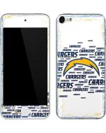 Los Angeles Chargers White Blast Apple iPod Skin